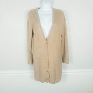 Nordstrom Collection Tan 100% Cashmere Cardigan